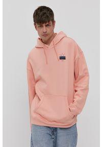 adidas Originals - Bluza bawełniana. Kolor: pomarańczowy. Materiał: bawełna. Wzór: nadruk