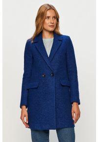 Niebieski płaszcz only bez kaptura, klasyczny, na co dzień