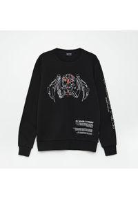 Cropp - Bluza z nadrukiem Cyberpunk 2077 - Czarny. Kolor: czarny. Wzór: nadruk