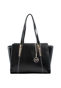 Czarna torebka MCKLEIN na ramię, paisley, klasyczna