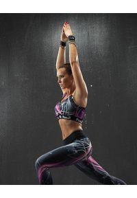 FJ! - Stanik sportowy GLAM. Materiał: żakard, dzianina, elastan, guma, poliester. Sport: fitness, bieganie