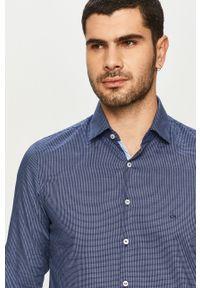 Niebieska koszula Calvin Klein casualowa, na co dzień, długa, z klasycznym kołnierzykiem