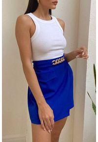 Niebieska spódnica IVET casualowa, na co dzień