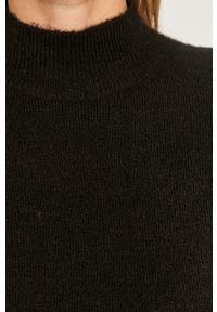 Czarny sweter Vero Moda z długim rękawem, długi