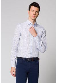 Niebieska koszula Lancerto w kolorowe wzory