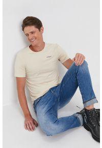 G-Star RAW - G-Star Raw - T-shirt/polo D19070.C723. Typ kołnierza: polo. Kolor: beżowy. Materiał: bawełna. Wzór: aplikacja