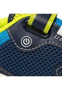Geox - Sneakersy GEOX - J Inek B. A J159CA 014BU C0749 S Navy/Lime. Okazja: na spacer. Zapięcie: rzepy. Kolor: niebieski. Materiał: materiał. Szerokość cholewki: normalna