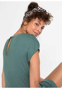 Zielony kombinezon bonprix z krótkim rękawem, elegancki, krótki