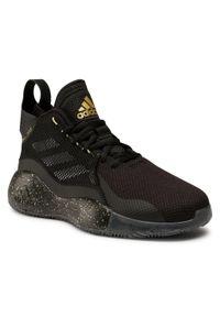 Czarne buty do koszykówki Adidas na co dzień, z cholewką