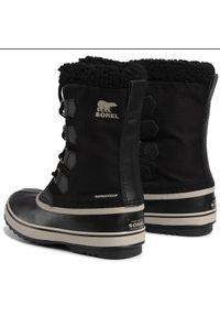 Czarne buty zimowe sorel z cholewką #5