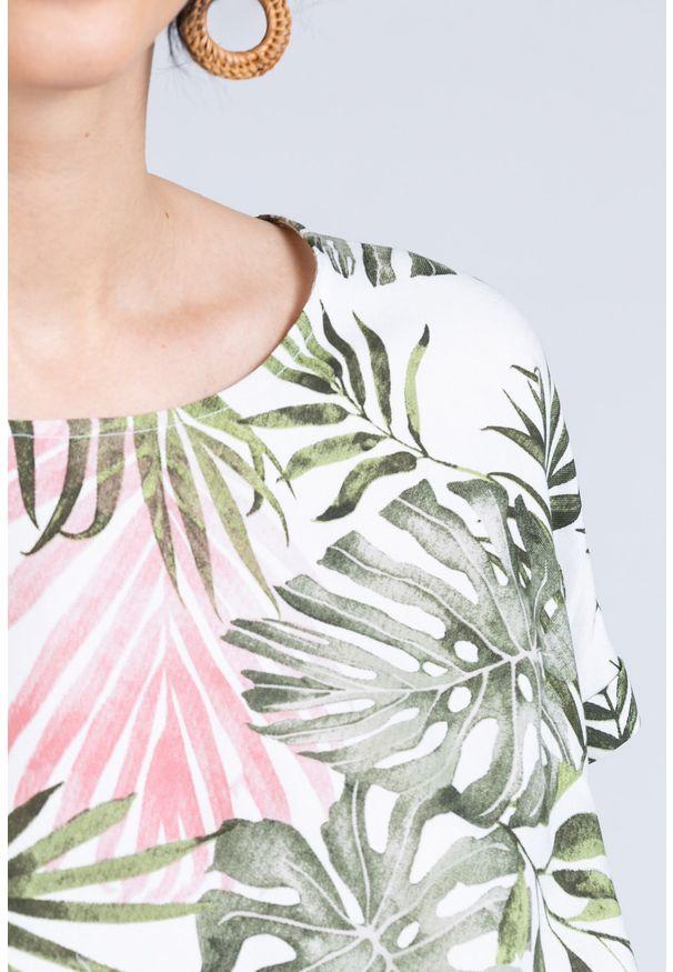 Zielona bluzka Monnari krótka, z krótkim rękawem, casualowa