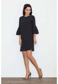 Czarna sukienka hiszpanka Figl elegancka