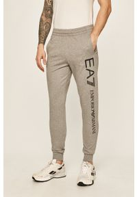 EA7 Emporio Armani - Spodnie. Okazja: na co dzień. Kolor: szary. Styl: casual