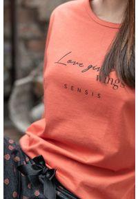 Sensis - Piżama Wings. Kolor: pomarańczowy. Materiał: dzianina