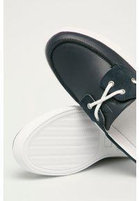 Armani Exchange - Mokasyny. Nosek buta: okrągły. Kolor: niebieski #5