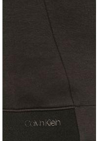 Czarna bluza nierozpinana Calvin Klein gładkie, casualowa