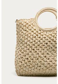 Kremowa torba plażowa ANSWEAR na ramię, wakacyjna