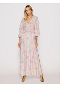 Sukienka NA-KD maxi, w kolorowe wzory