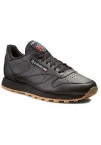 Czarne buty sportowe Reebok na co dzień, z cholewką