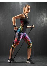 FJ! - Top MOSAIC. Materiał: tkanina, skóra, poliester, lycra. Wzór: nadruk, kolorowy. Sport: fitness, joga i pilates