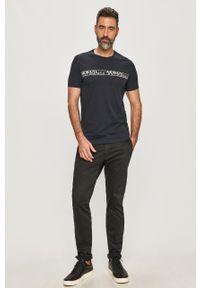 Niebieski t-shirt Armani Exchange casualowy, na co dzień