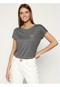 Roxy T-Shirt Happy Memories Cropped Tie ERJZT04864 Szary Regular Fit. Kolor: szary