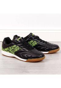 Buty sportowe męskie halówki czarne Atletico. Kolor: czarny. Materiał: skóra ekologiczna. Szerokość cholewki: normalna