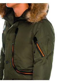 Brązowa kurtka Ombre Clothing na zimę