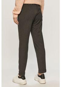 Szare spodnie materiałowe Vero Moda casualowe, gładkie, na co dzień