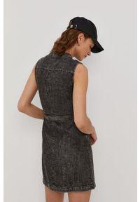 Noisy may - Noisy May - Sukienka jeansowa. Kolor: czarny. Materiał: jeans. Typ sukienki: dopasowane