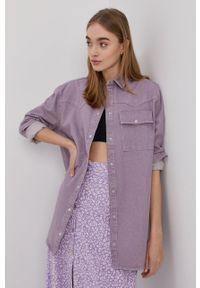 Noisy may - Noisy May - Koszula jeansowa. Kolor: fioletowy. Materiał: jeans