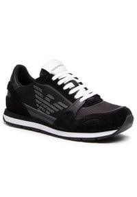 Emporio Armani Sneakersy X4X537 XM678 N639 Czarny. Kolor: czarny