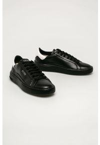 Czarne sneakersy Guess Jeans z okrągłym noskiem, na sznurówki, z cholewką #4