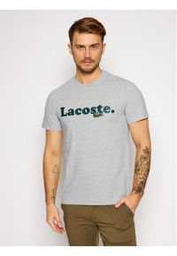 Szary t-shirt Lacoste