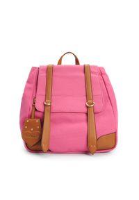 Złota walizka TwinSet w kolorowe wzory