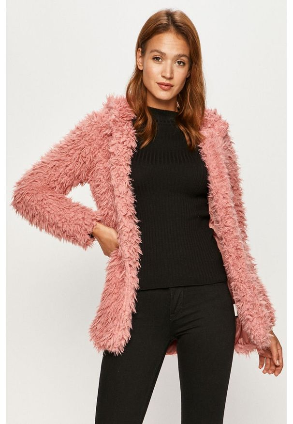 Różowy płaszcz Haily's bez kaptura, casualowy, na co dzień