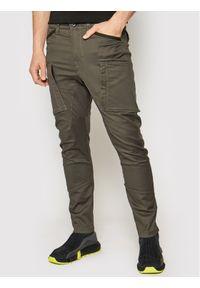 G-Star RAW - G-Star Raw Spodnie materiałowe Zip Pkt 3D D18928-C105-2210 Szary Skinny Fit. Kolor: szary. Materiał: materiał