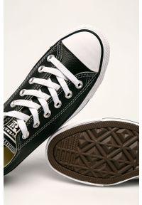 Czarne tenisówki Converse z cholewką
