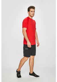 Under Armour - T-shirt Tech SS Tee 2.0. Okazja: na co dzień. Kolor: czerwony. Materiał: dzianina. Styl: casual