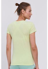Guess - T-shirt. Okazja: na co dzień. Kolor: wielokolorowy, zielony, żółty. Materiał: dzianina, bawełna. Wzór: nadruk. Styl: casual #3