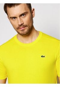 Lacoste T-Shirt TH7618 Żółty Regular Fit. Kolor: żółty #5