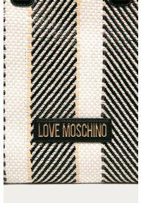 Wielokolorowa shopperka Love Moschino skórzana, duża