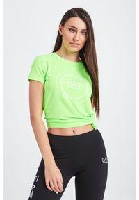 T-shirt EA7 Emporio Armani casualowy, na co dzień