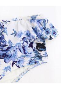 ZIMMERMANN KIDS - Strój kąpielowy Aliane Butterfly. Stan: podwyższony. Kolor: biały. Materiał: materiał. Wzór: kwiaty, aplikacja, nadruk