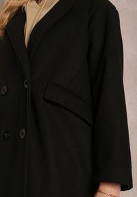 Renee - Czarny Płaszcz Dysiris. Kolor: czarny. Materiał: poliester. Długość rękawa: długi rękaw. Długość: długie. Styl: elegancki