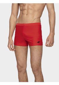 4f - Kąpielówki męskie. Kolor: czerwony. Materiał: materiał