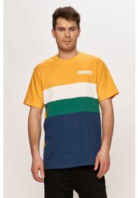 Pomarańczowy t-shirt Prosto. na co dzień, casualowy