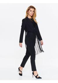 Czarny żakiet TOP SECRET w kolorowe wzory, elegancki, krótki