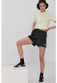adidas Originals - T-shirt. Okazja: na co dzień. Kolor: żółty. Materiał: dzianina. Styl: casual