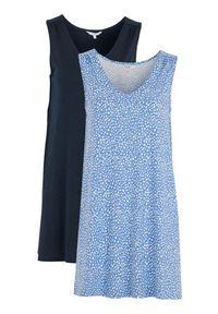 Niebieska tunika Cellbes na co dzień, elegancka, w kropki, bez rękawów